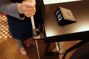 Hands-free-Klemme für Blindenstock