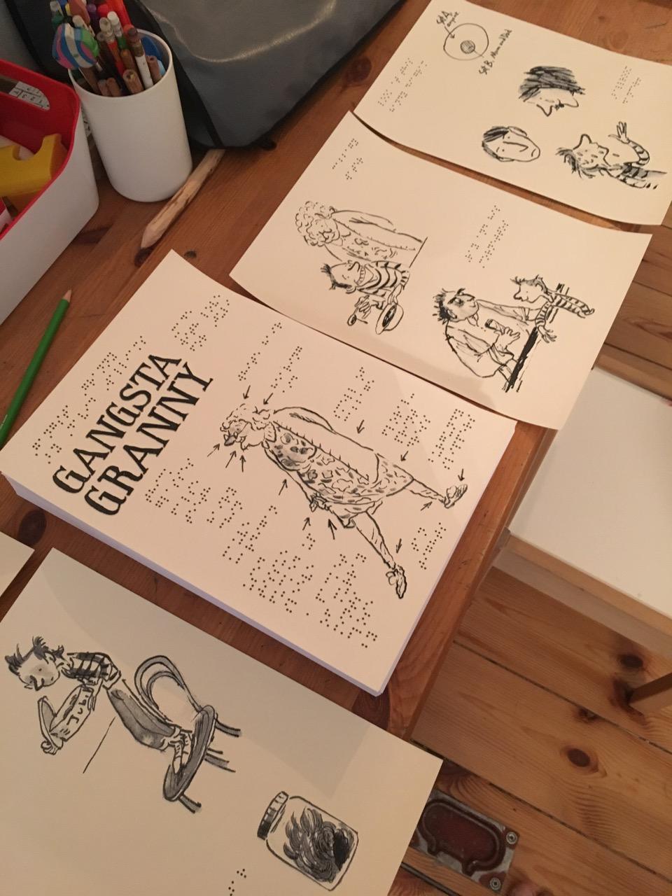 Grafikproduktion taktil Kinderliteratur