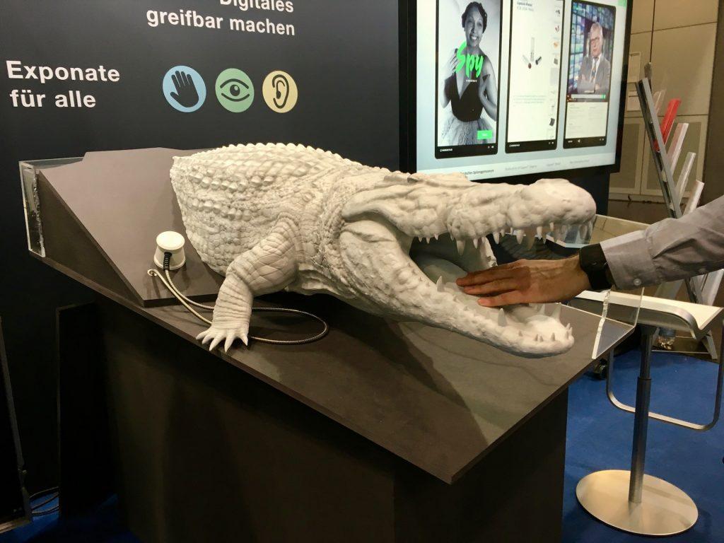 Voll-3D-Modell eines Krokodils mit Audiofeedback