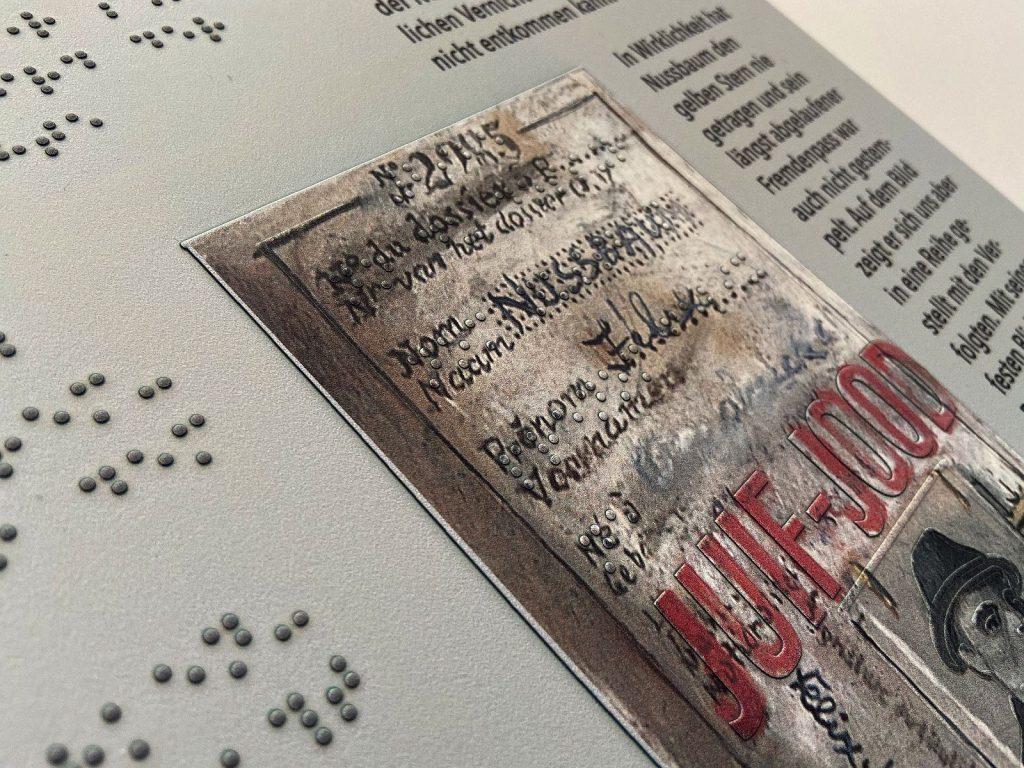 Umsetzung eines Felix Nussbaum-Gemäldes in Relief und Braille